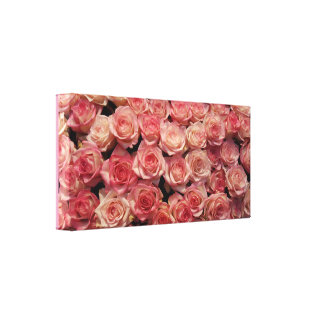 Very Romantic Pink Roses Canvas