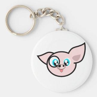 Very Silly Piggy Key Ring