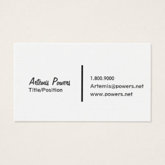 Very Simple Front Only Business Card
