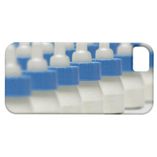 Very small feeding bottles in perspective, shot iPhone 5 cover