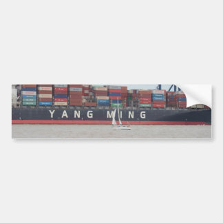 Very Small Yacht Very Large Ship! Bumper Sticker