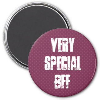Very Special BFF Pink Polka Dots Template 7.5 Cm Round Magnet