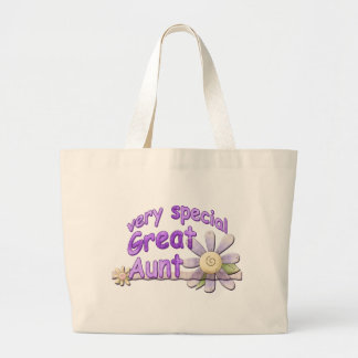 Very Special Great Aunt Flower Large Tote Bag