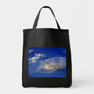 Very structured cloud in a beautiful blue sky canvas bag