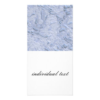 very thick painted baby blue (I) Photo Greeting Card