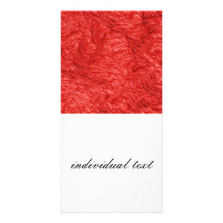 very thick painted fire red (I) Custom Photo Card
