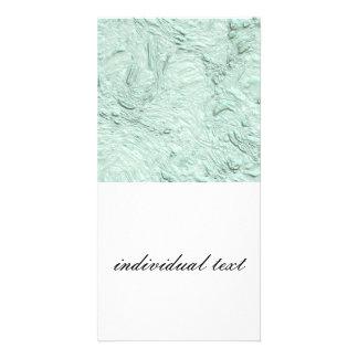 very thick painted soft aqua (I) Photo Card Template