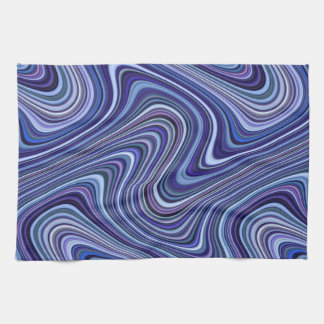 Very Unique Blue Purple Pink Curvy Line Pattern Tea Towel