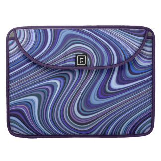 Very Unique Blue Shade Curvy Line Pattern Sleeve For MacBook Pro