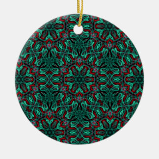 Very unique gift holiday LED light pattern Double-Sided Ceramic Round Christmas Ornament