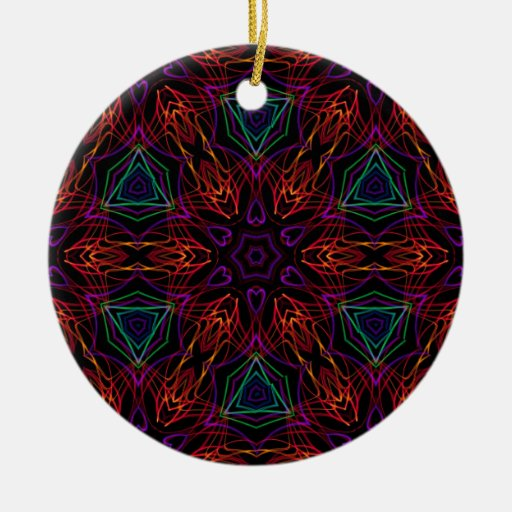 Very unique gift, LED light pattern Christmas Tree Ornaments