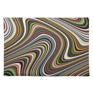Very Unique Multi-Color Curvy Lined Placemat