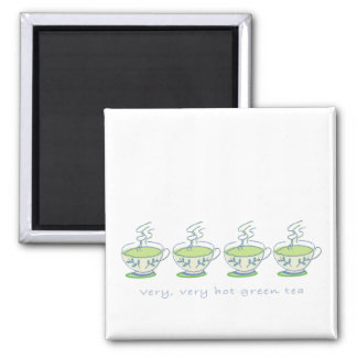 very very hot green tea Square Magnet