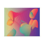 Very Warm Colours>Modern Fractual  Print Stretched Canvas Print