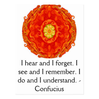 Very Wise Confucius Quotation Postcard
