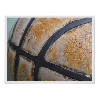 Very Worn Out, Old Basketball Poster