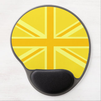 Very Yellow Union Jack British Flag Gel Mouse Pad