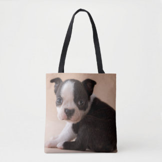Very Young Boston Terrier Puppy Tote Bag