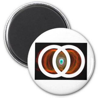Vesica Piscis Hourglass Nebula 6 Cm Round Magnet