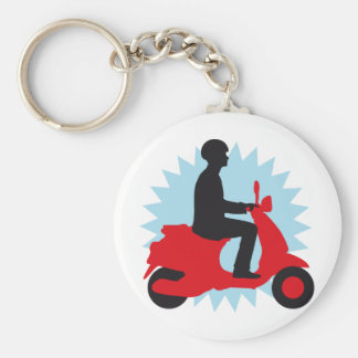 Vespa more scooter basic round button key ring