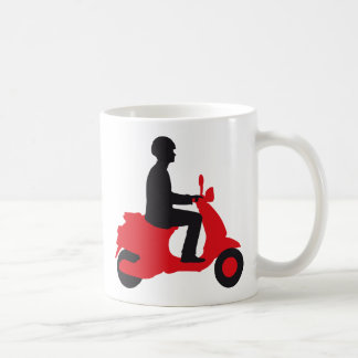Vespa more scooter basic white mug