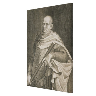 Vespasian (9-79 AD) Emperor of Rome 69-79 AD engra Canvas Print