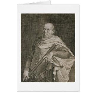 Vespasian (9-79 AD) Emperor of Rome 69-79 AD engra Greeting Card