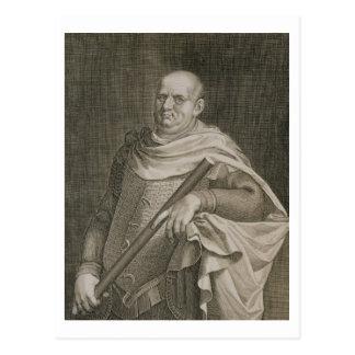 Vespasian (9-79 AD) Emperor of Rome 69-79 AD engra Postcard