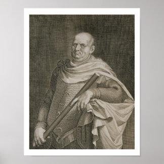 Vespasian (9-79 AD) Emperor of Rome 69-79 AD engra Poster