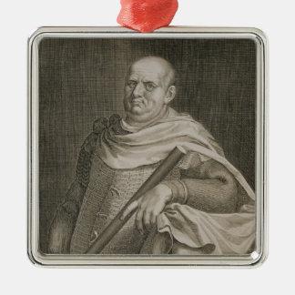 Vespasian (9-79 AD) Emperor of Rome 69-79 AD engra Silver-Colored Square Decoration