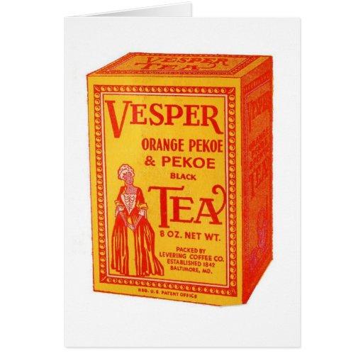 Vesper Tea Package, Greeting Card