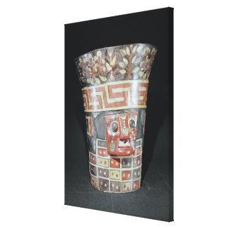 Vessel depicting corn yams and animals canvas print