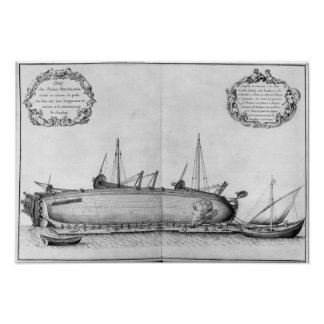 Vessel lying on its hull poster