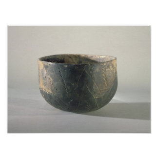 Vessel with a ribbon-style decoration