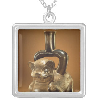 Vessel with puma, Chavin Culture, c.90 BC Silver Plated Necklace
