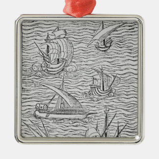 Vessels of Early Spanish Navigators Christmas Ornament