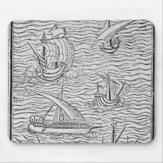 Vessels of Early Spanish Navigators Mouse Mat