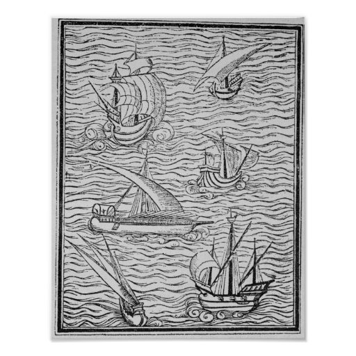 Vessels of Early Spanish Navigators Posters