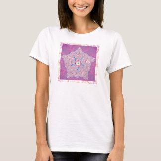 Vest Top T-Shirt - Purple Star Fractal Pattern