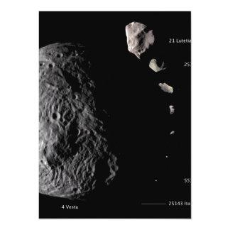 Vesta and Asteroid Gallery 14 Cm X 19 Cm Invitation Card