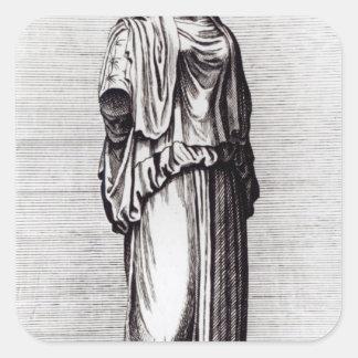 Vestal Virgin, c.1653 Square Sticker