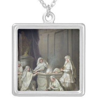 Vestal Virgins, 1727 Silver Plated Necklace
