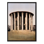 Vesta's Temple, Rome, Italy classic Photochrom
