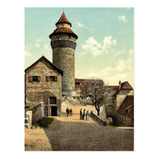 Vestner Tower, Nuremberg, Bavaria, Germany rare Ph Postcard