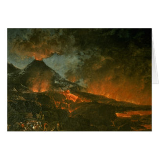 Vesuvius Erupting Greeting Card