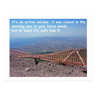 Vesuvius Volcano Humour Postcards