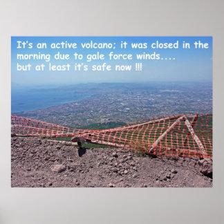 Vesuvius Volcano Humour Poster
