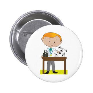 Vet and Dog Pin