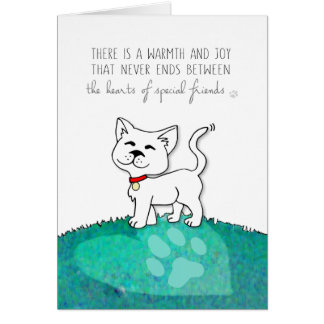 Vet & Business Cat Sympathy Card - Warmth & Joy