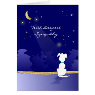 Vet & Business Dog Sympathy Card Moon and Stars